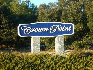 the entrance sign to Crown Point subdivision