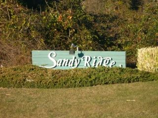 Sandy Ridge subdivision sign