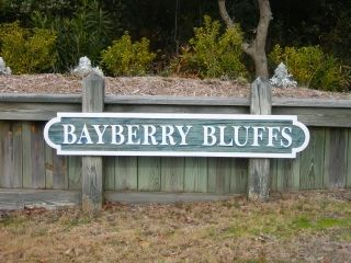 Bayberry Bluffs subdivision sign