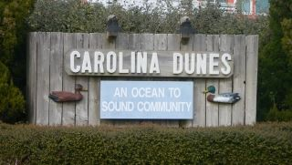Carolina Dunes subdivision sign