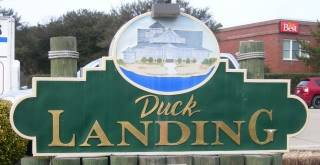 Duck Landing Subdivision sign