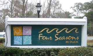 Four Seasons subdivision sign