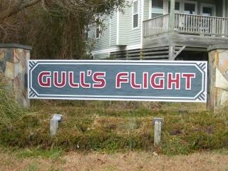 Gull's Flight subdivision sign