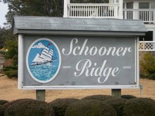 Schooner ridge subdivision sign