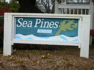 Sea Pines subdivision sign