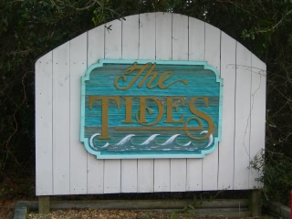 The Tides subdivision sign